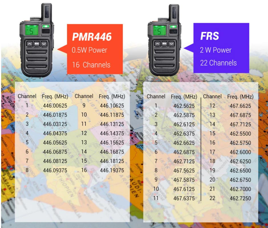 frs pmr446 handheld two way radio